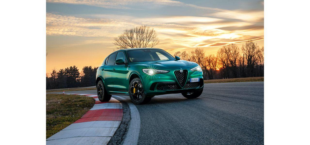 Alfa Romeo Stelvio Quadrifoglio framifrån