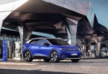 Omslagsbild av blå Volkswagen ID 4