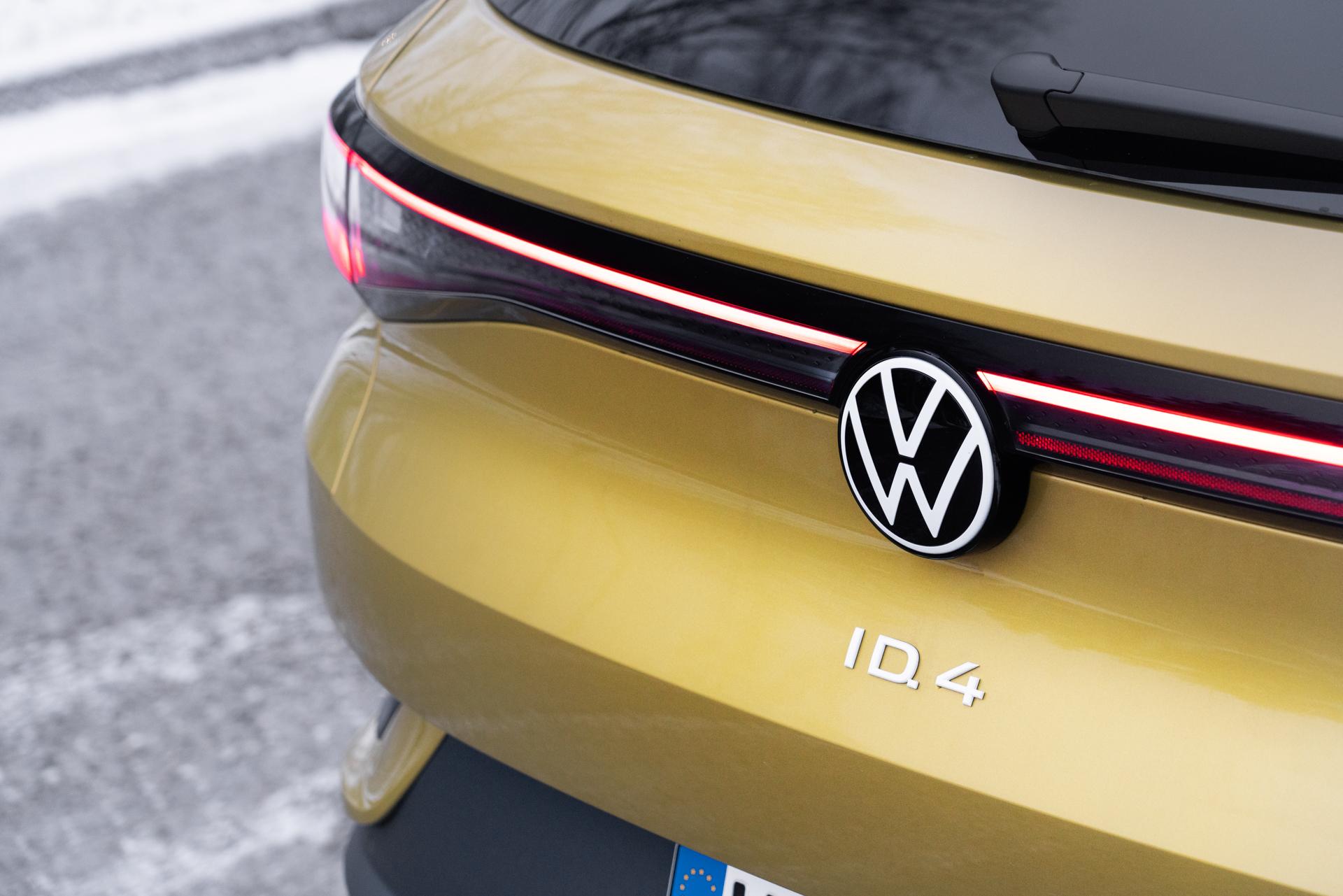 närbild på nya volkswagen id4