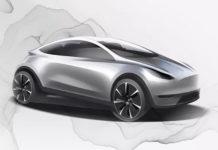 omslagsbilden visar en skiss av Teslas kommande instegsmodell