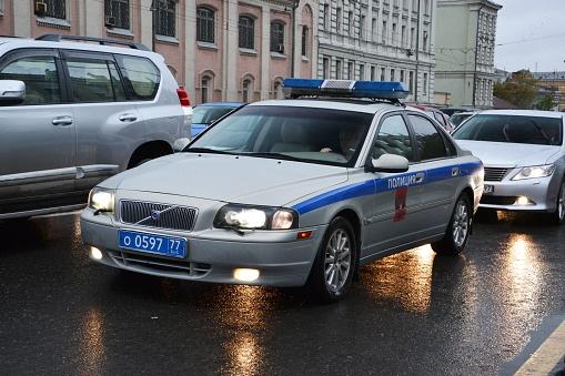 volvo s80 polisbil i moskva